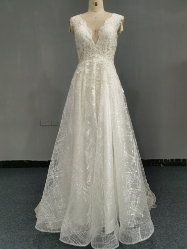 9069 - FREE SHIPPING WEDDING DRESS HEAVRY LACE