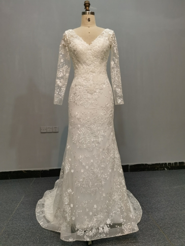 9060 - FREE SHIPPING  WEDDING DRESS BEADING LACE