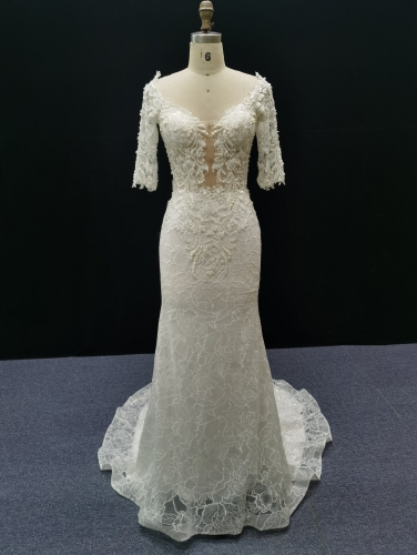1002 - FREE SHIPPING  WEDDING DRESS BEADING LACE