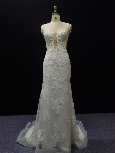 9067 - FREE SHIPPING  WEDDING DRESS BEADING LACE