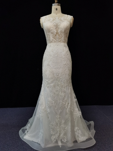 9072 - FREE SHIPPING  WEDDING DRESS BEADING LACE