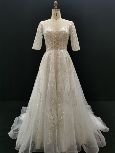 9029 - Free shipping Wedding Dress Evening Dress Beading Lace