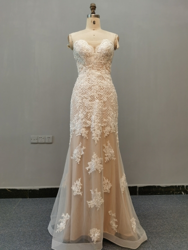9063 - Free shipping Wedding Dress Evening Dress Beading Lace