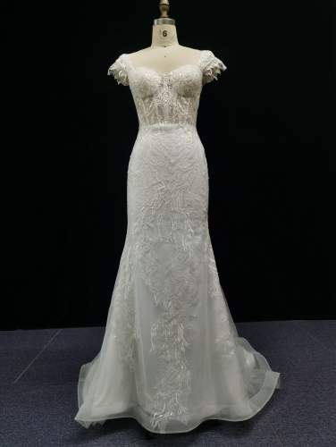 9212 - Free shipping Wedding Dress Evening Dress Beading Lace