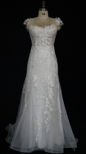 9107 - Free shipping Wedding Dress Evening Dress Beading Lace