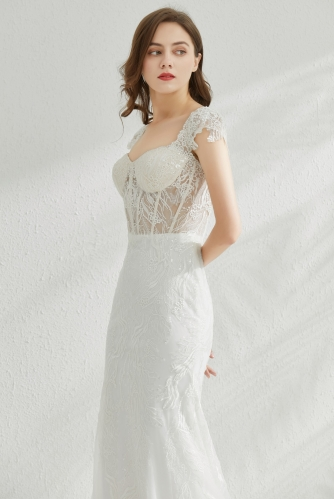 9094 - Free shipping Wedding Dress Evening Dress Beading Lace