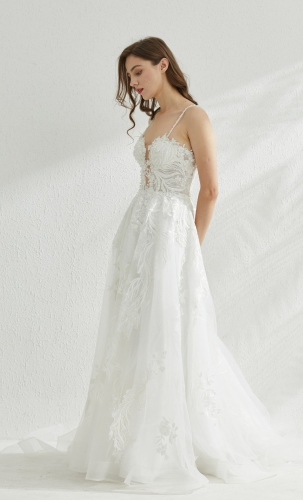 9213 - Free shipping Wedding Dress Evening Dress Beading Lace